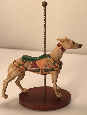 Franklin Mint, 1990 Treasury Of Carousel Art - Series 2 - Greyhound Dog