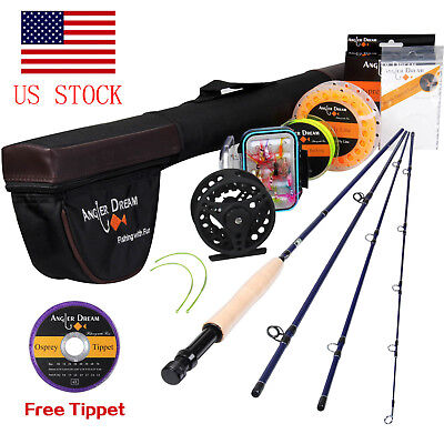 9FT 5WT Fly Fishing Rod with Reel Combo 5/6WT Fly Reel and Line Kit Starter Rod