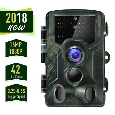 Trail Camera, 16MP 1080P Full HD Hunting Camera with Activated Night Vision