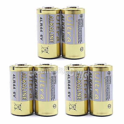 6 pcs 28A 6V 4LR44 4NZ13 4G13 V34PX L1325 Alkaline Battery Cell For Remote Alarm