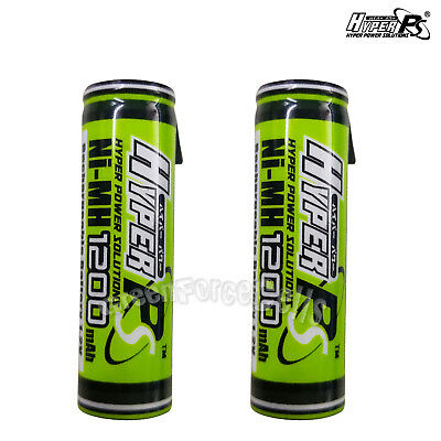 2 pcs AA 1200mAh 1.2V Rechargeable Battery Cell with Tab HyperPS For RC Toys