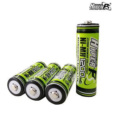 4 pcs AA 1200mAh 1.2V Volt Rechargeable Battery HyperPS For Camera RC Toys