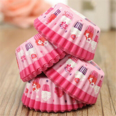 100pcs Round Shape Cupcake Liner Baking Muffin Liners Box Colorful Paper Mold