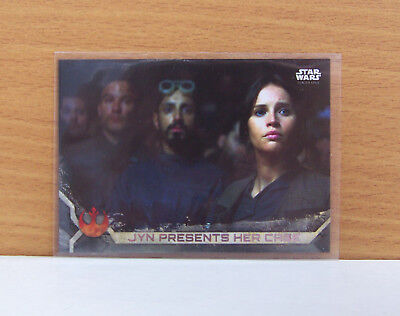 Star Wars Rogue One series 2 Jyn presents case #40 Gray Grey parallel card /100