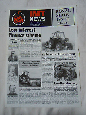 @Vintage IMT Tractor News Royal Show Issue July 1984 @