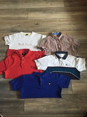 Boys 10-12 Designer Bundle Paul Smith Lacoste Lyle And Scott Ralph Lauren