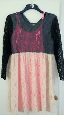 Maternity dress ASOS 10 worn once lace colour block wedding event