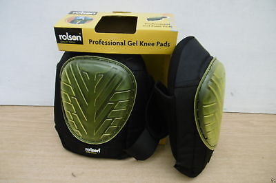 Rolson Professional Heavy Duty Gel Knee Pads Sewn Caps Industrial Strength Caps
