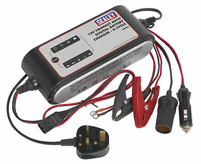 Sealey Smc04 Compact Auto Intelligent Battery Charger - 9-Cycle 12V