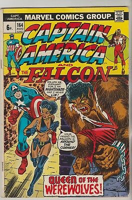 *** Marvel Comics Captain America #164 Vg ***
