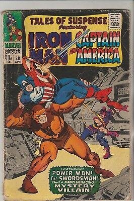 *** Marvel Comics Tales Of Suspense #88 Captain America & Iron Man G ***