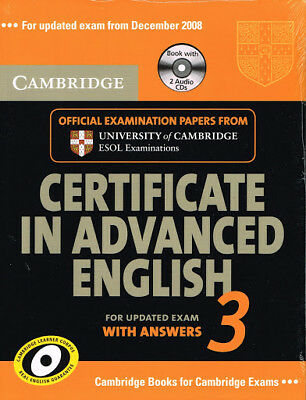 Cambridge CERTIFICATE IN ADVANCED ENGLISH 3 with Answers & Audio CDs CAE @NEW@