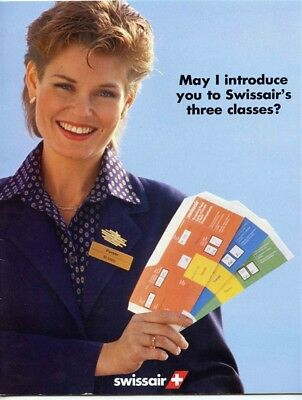 May I Introduce You to Swissair's Three Classes Booklet 1985 DC-10 A-310 B-747