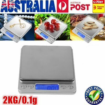 2KG/0.1g Kitchen Food Scale Digital LCD Electronic Balance Weight Scales BR