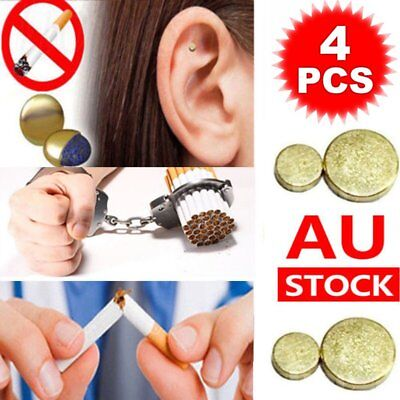 4x Cigarettes Magnetic Stop Smoke Ear Acupressure Ear Magnet Quit Anti-Smoking
