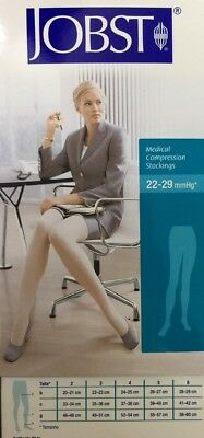 JOBST COMPRESSION PANTYHOSE 20-30 mmHg RELIEF SUPPORTS THERAPEUTIC CLOSED TOE
