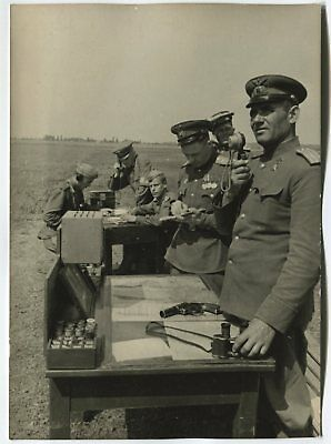Wwii Large Size Press Photo: Russian Air Force Aerodrome Traffic Controller