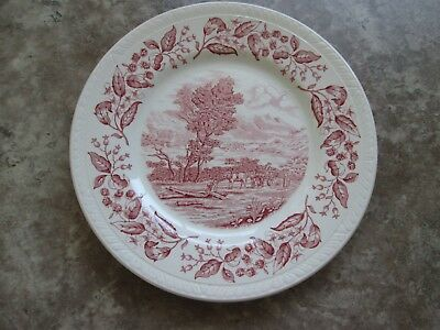 "BARKER BROS LTD PINK 7 5/8"" Dessert/Bread Dish -  Olde English Country Crafts"