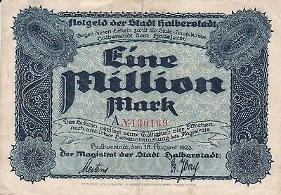 1 Million Mark der Stadt Halberstadt
