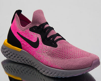 6a2966ee368b Nike Epic React Flyknit Running Shoes Plum Dust Black Sneakers AQ0067-500