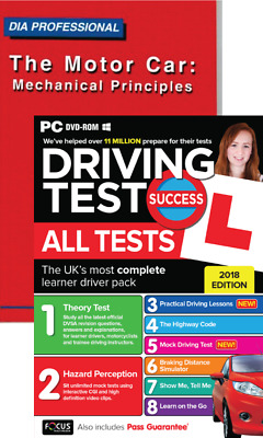 Theory Test Success Driving All Tests PC DVD-ROM + The Motor Car Book