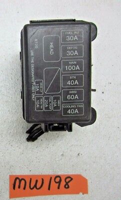 1998 98 Escort Coupe Zx2 Main Fuse Box Wire Harness Panel Relay System Engine