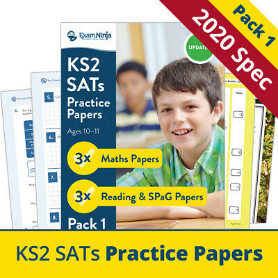 2019 KS2 SATs Practice Papers [ PACK 1 ] - 3x FULL Sets of Maths, English & SPaG