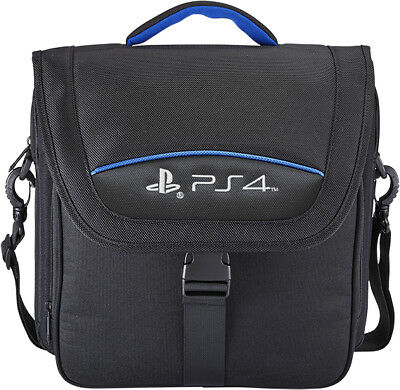 BIGBEN Playstation 4 PS4 CONSOLE SYSTEM CARRY CASE TRAVEL BAG - BLACK - NEW
