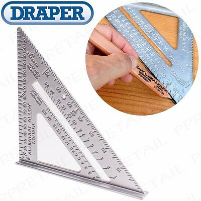 "7"" ROOFERS SPEED SQUARE Alloy Rafter Angle Measuring Roofing Construction Tool"