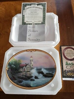 Thomas Kinkade HOPE'S COTTAGE Scenes Of Serenity with certificate Lighthouse