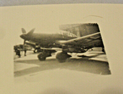 "Wwii Aaa Capt's Original Photo Of German Fighter ""flew In To Surrender May 45"""