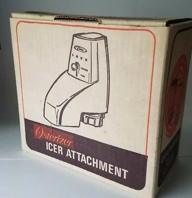Oster Osterizer Icer Ice Crusher Attachment NEW Model 435 Orig Box WHITE 1968