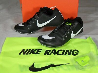 6755c3b0220b New Mens Nike Zoom Ja Fly 3 Track Spikes Cleats 9.5 Black White Bag 865633