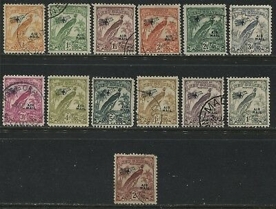 New Guinea 1932-34 overprinted Airmail definitives to 2/ inclusive used