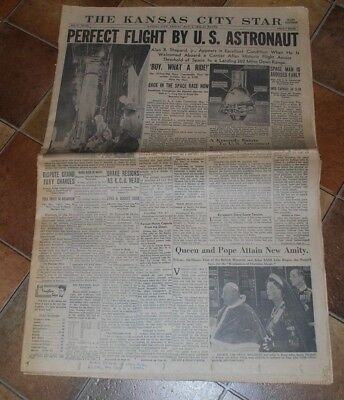 The Kansas City Star May 5 1961 Perfect flight by US Astronaut, Alan Shepard