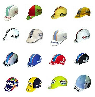 Cappellino Sottocasco Ciclismo Team Vintage Cycling Hat Cap Old Team Pro
