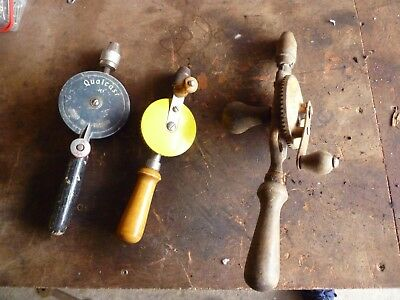Lot of vintage Hand drills Stanley/Qualcast ect hand tools