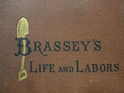 RARE 1874 Railroad Train Book Life and Labors of Mr Brassey 1805-1870 A. Helps