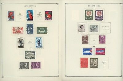 Luxembourg Scott International Album Page Lot #30 - SEE SCAN - $$$