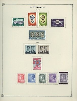 Luxembourg Scott International Album Page Lot #35 - SEE SCAN - $$$