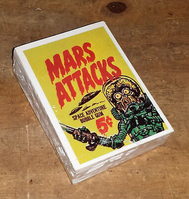 Mars Attacks Official Reprint Cards Topps Sealed New