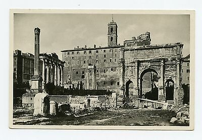 Arch of Septimus Severus in Rome, Italy Built in 203 A.D. RPPC Postcard