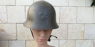 M21 Model 1921 SWEDEN SWEDISH ARMY HELMET WITH THREE CROWNS PRE WWII