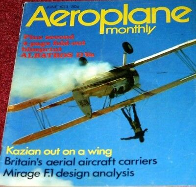 Aeroplane Monthly Magazine 1973 June Miles Libellula,Mirage,Red Arrows Gnat