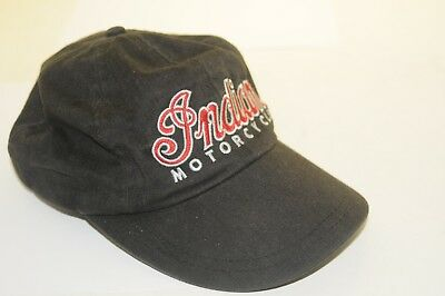 25d0d7b3184 Vintage Indian Motorcycle Black Baseball Cap   Hat W Embroidered Logo    Free Shp
