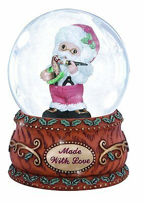 Precious Moments Annual Santa With Rocking Horse Musical Snow Globe Christmas