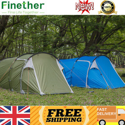 Finether 3-Man Family Camping Travelling Tunnel Tent Outdoor Waterproof Shelter