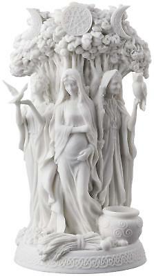 Celtic Triple Goddess Maiden Mother And The Crone White Statue Sculpture Figure