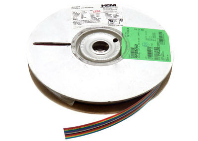 HCM 100 Foot 28 AWG 16 Connector Rainbow Ribbon Cable 23026-016