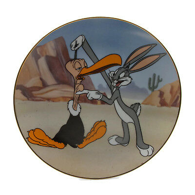 1996 Warner Bros Director's Series Bugs Bunny Gets The Boid Collector Plate